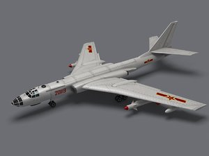 h-6 strategic bomber xian 3d model