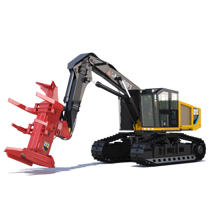 3d model tracked feller buncher 551