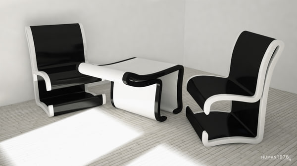 c4d chair table
