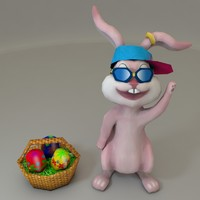 Low Poly Easter Bunny