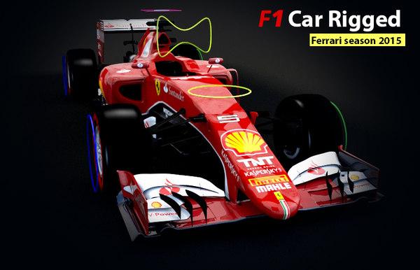 formula 1 car rigged max