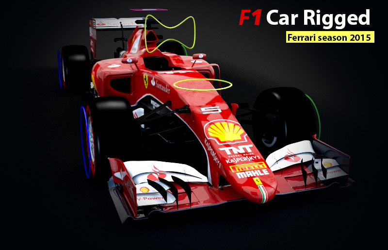 formula 1 car rigged max
