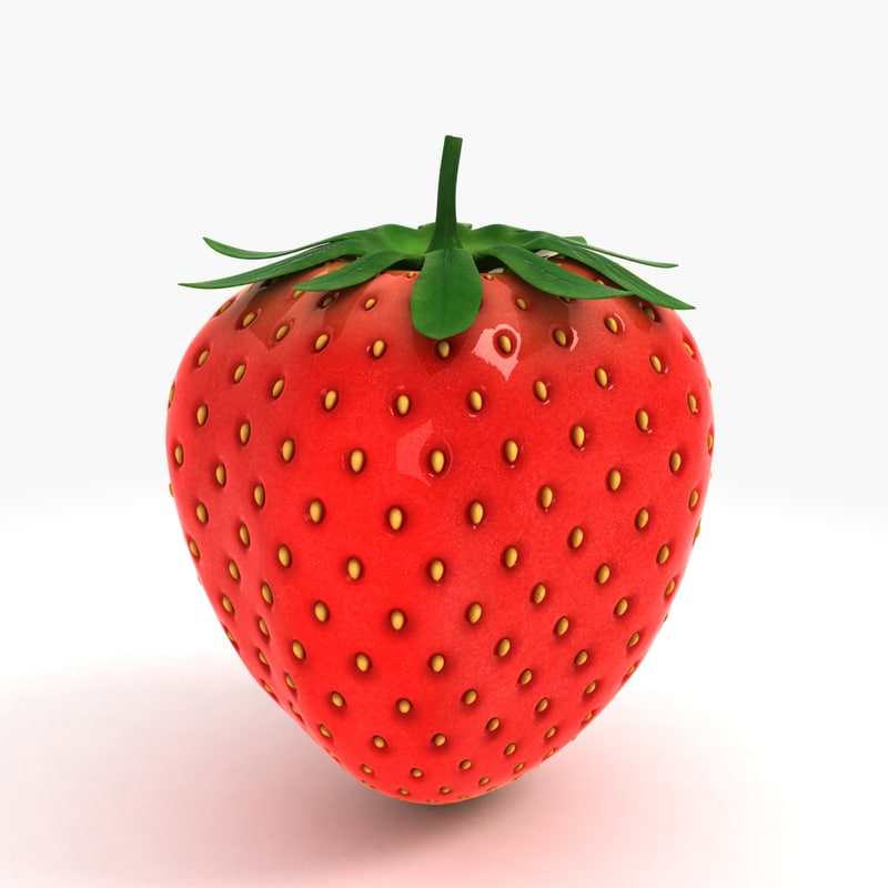 strawberry studiomax 3d obj
