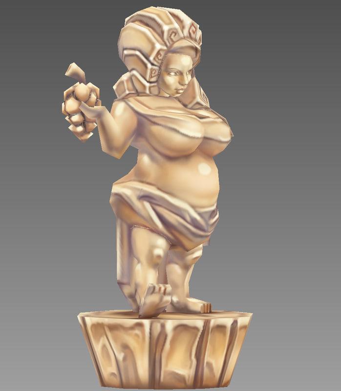 free statue woman 3d model