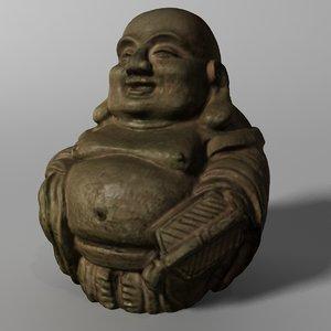3d laughing buddha statue model