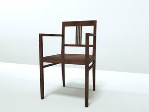 3d model of italian chair como