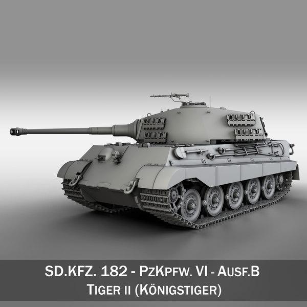 3d sd kfz 182 tiger ii model