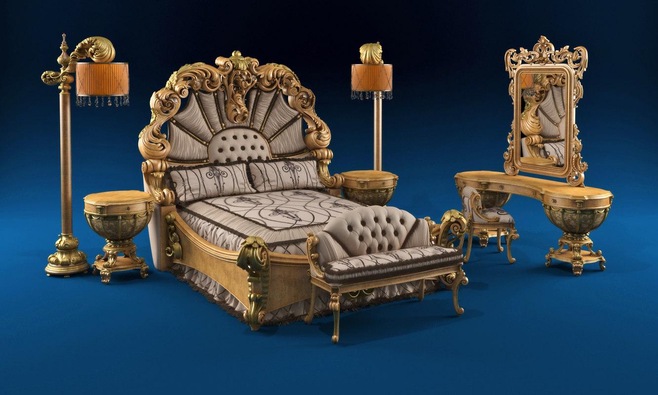 Bed giardino italiano 3d model for Giardino 3d gratis italiano