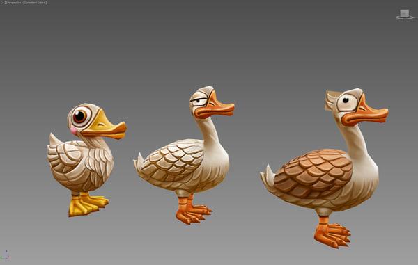 duck 3d max