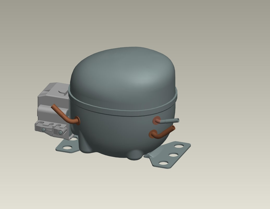 3d ige refrigerator compressor