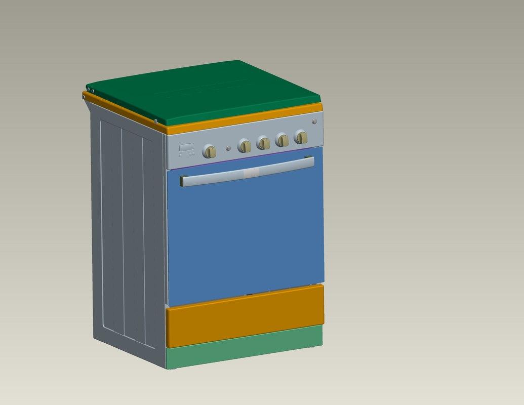 gas stove 3d ige