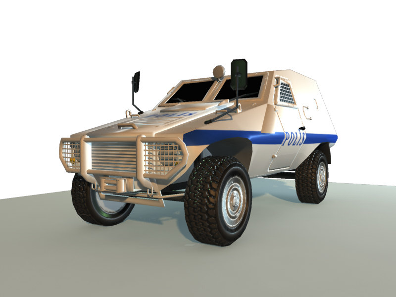 3d police armoured car akrep model