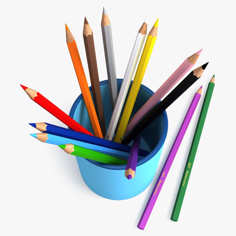 3d max penholder pencils