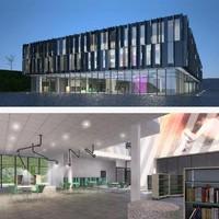 3d cultural center building exterior model
