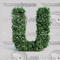 3d model of alphabet u buxus