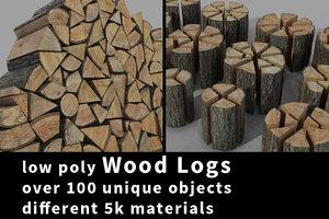 3d model realistic logs