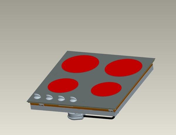 3d burner panel