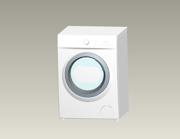 washing machine 3d ige