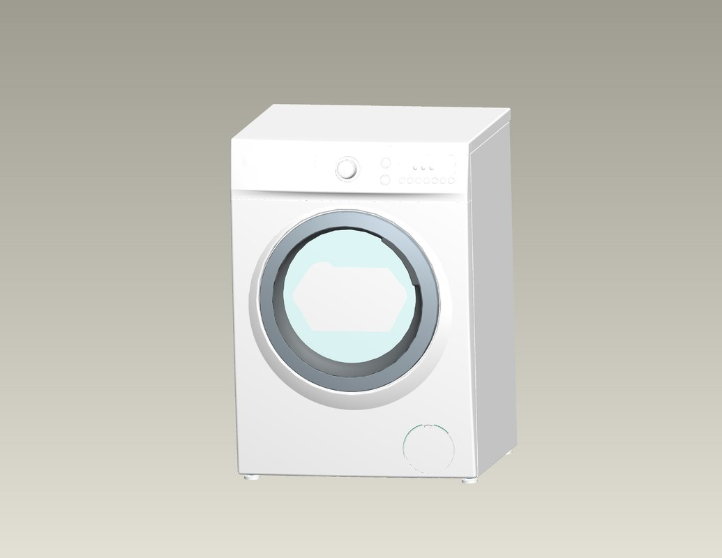 washing machine 3d ige