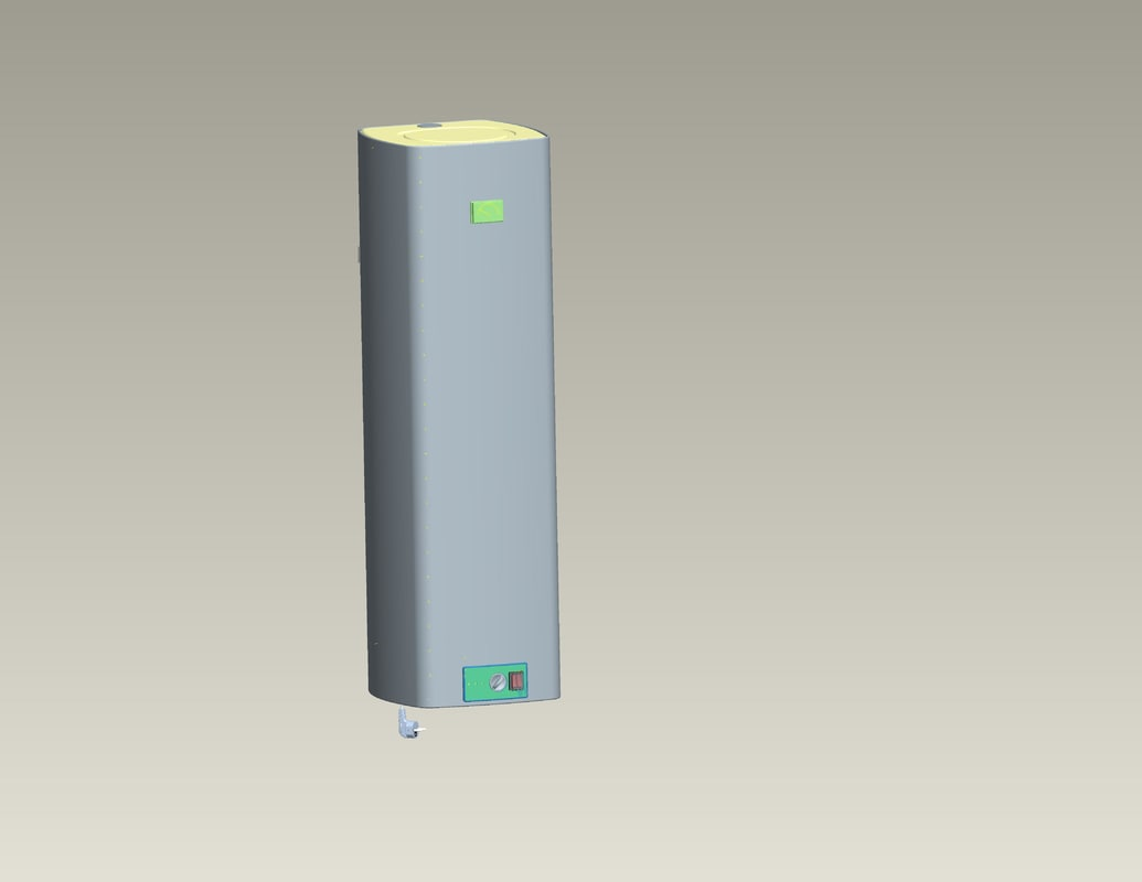 3d model of electric water heater