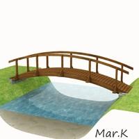 wooden bridge 3d 3ds