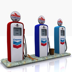 gas pump chevron 3ds