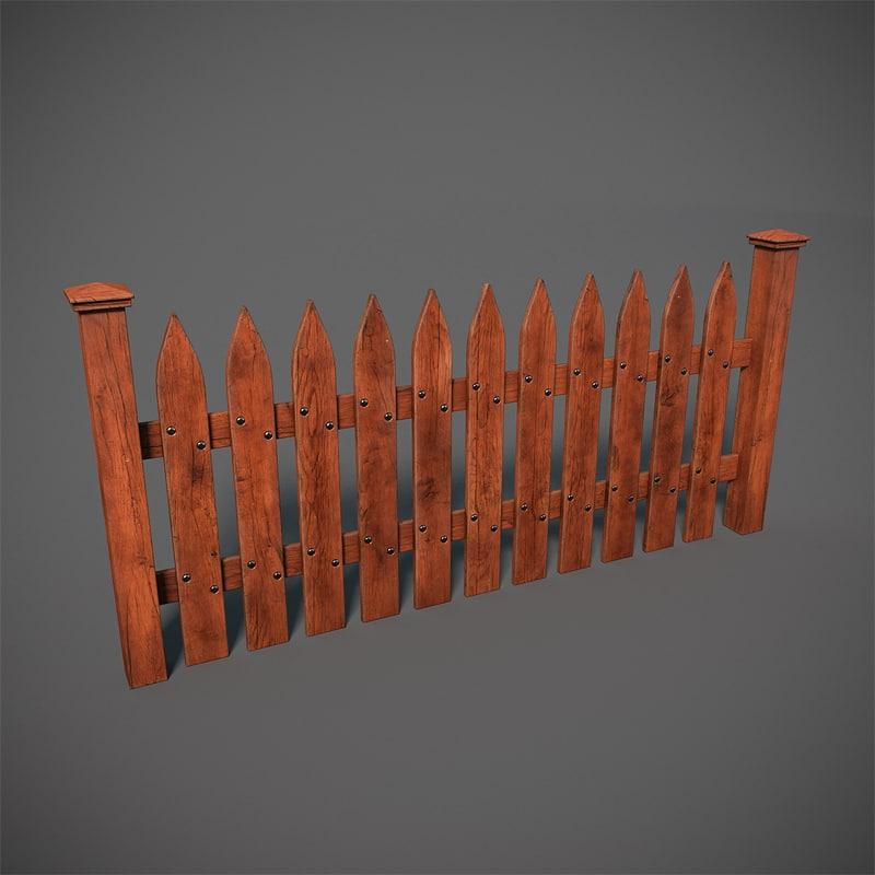 wooden structures 3d model