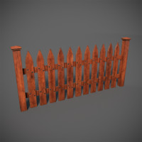 wooden structures 3d model