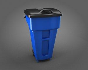 plastic garbage bin 3d model