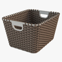 3d model realistic wicker basket