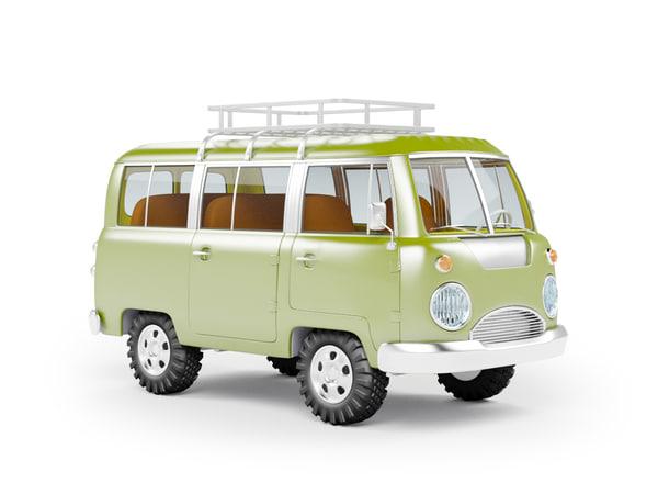 3d van safari model