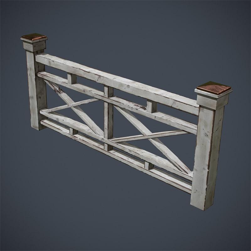 3d wooden structures model