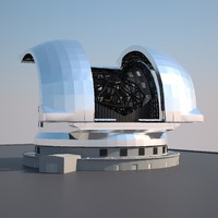 3d model of e-elt european extremely