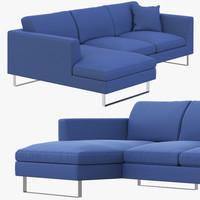 jasper modern corner sofa 3d 3ds