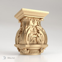 3D model of the carved capitals for CNC | Kl_008