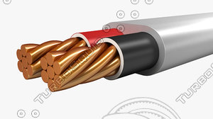 3d electrical cables twin sheathed