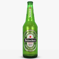 heineken beer bottle 3d model