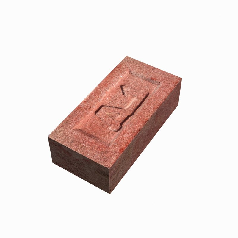 3d model brick brand red
