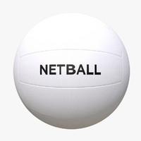 netball ball 3d c4d