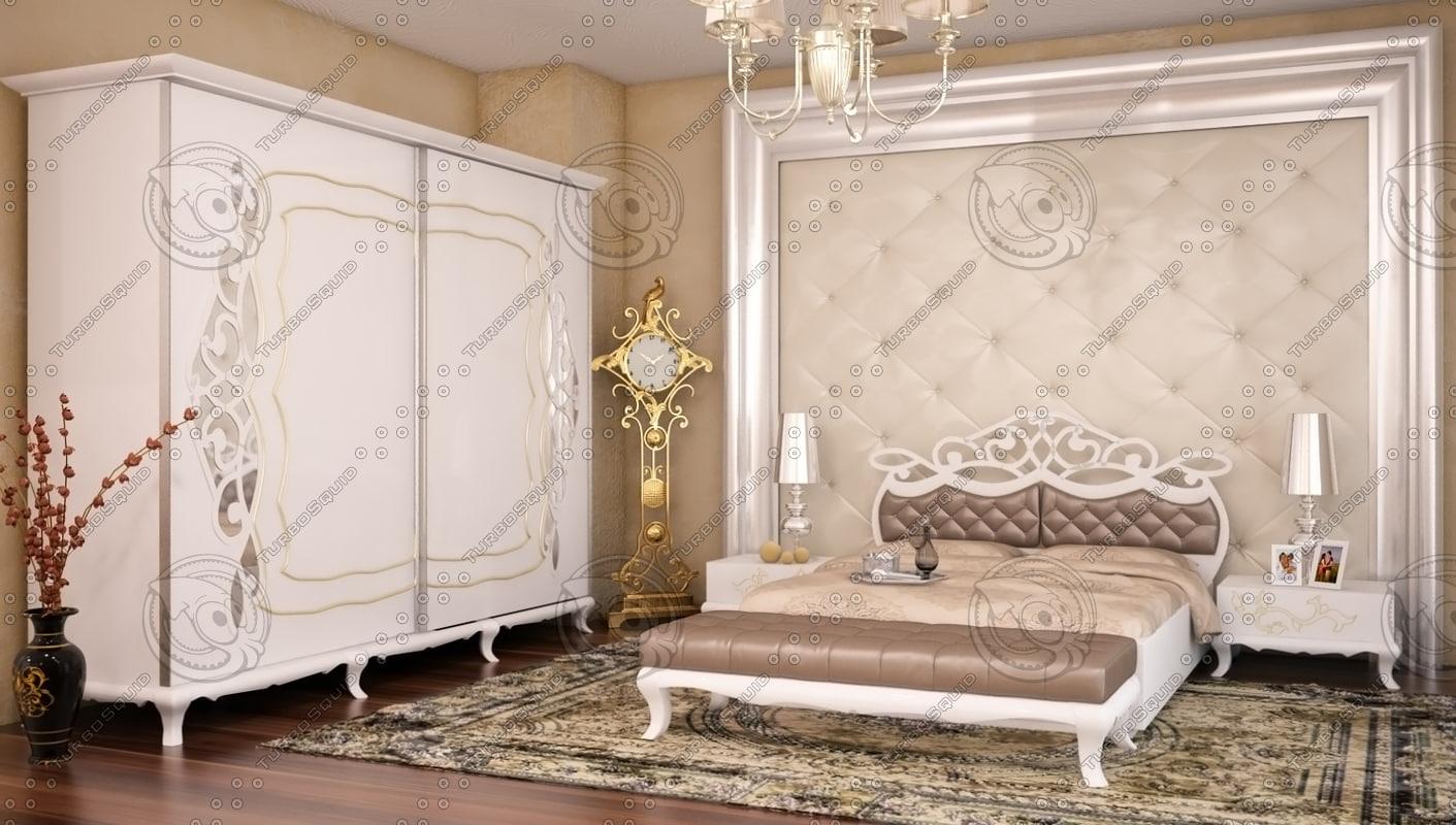 bedroom handmade furniture 3d model