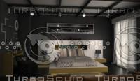 3d model modern design set