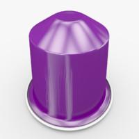 nespresso capsule arpeggio 3d model