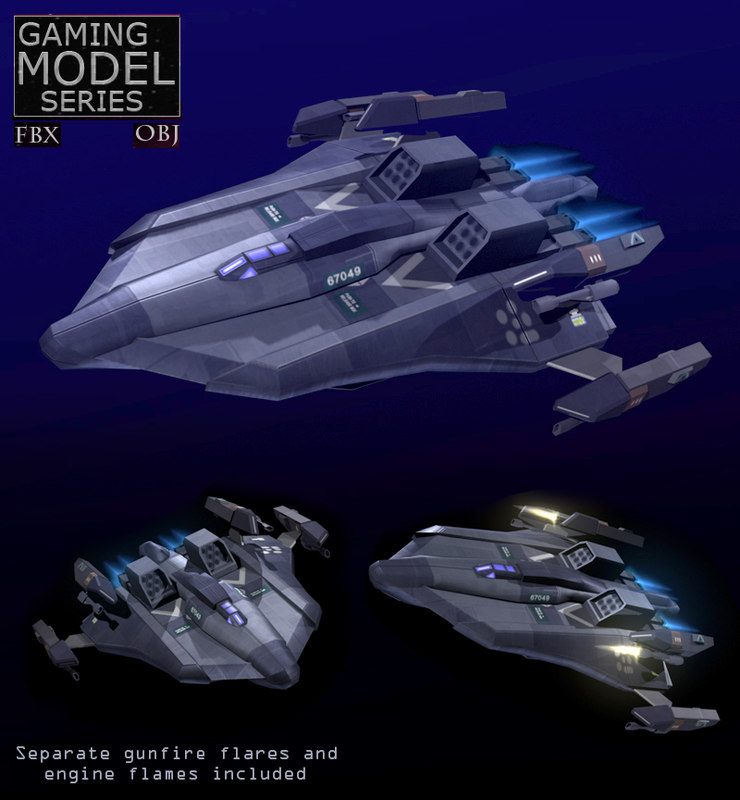3d max space fighter bomber