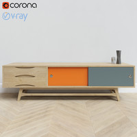 Nordic Colour Entertainment Unit TV stand