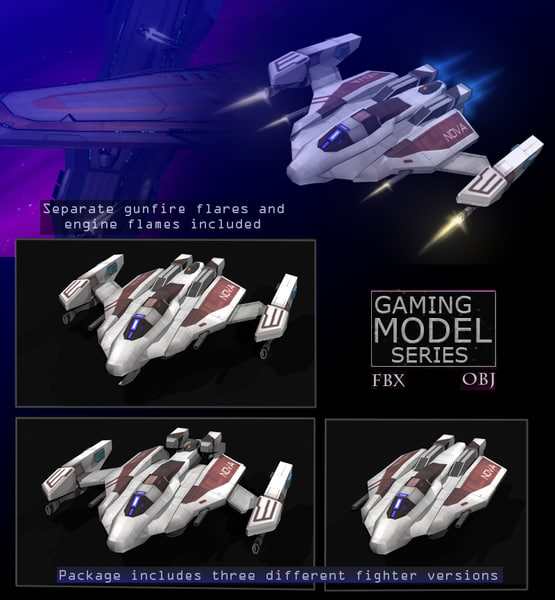 space fighters fbx