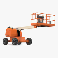telescopic boom lift generic 3d model