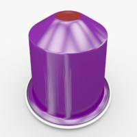 3d nespresso capsule arpeggio decaffeinato model