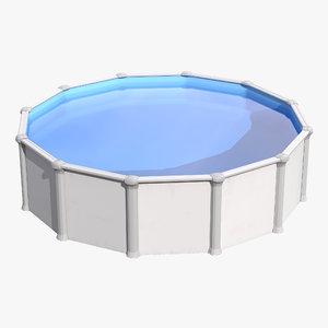 frame swimming pool 3d model