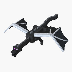 3d minecraft ender dragon rigged