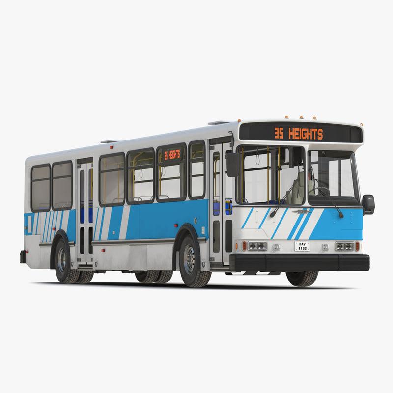orion v transit bus 3d model